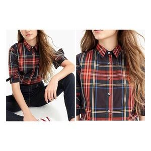 J. Crew perfect fit shirt in steward plaid